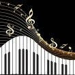 Vector de stock : Music notes, piano