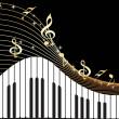 Notas de la música, piano — Vector de stock