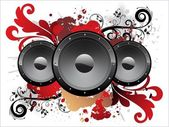 Grungy artwork with vinyl — Stock Vector