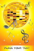 Musical note, disco ball — Stock Photo