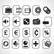Multimedia vector icons — Stock Vector