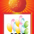 Stock Vector: New year 2009 greeting