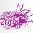 New year 2009 greeting — Stock Vector