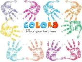 Multicolor fingerprints — Stock Vector
