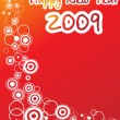 New year 2009 greeting pattern — Stock Vector