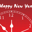 New year clock illustration — Imagen vectorial