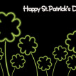 St. patrick's day black background — Stock Vector