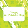 St. patrick's day strips background — Stock Vector