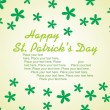 Stock Vector: St. patrick's day card 17 march
