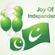Illustration joy of independence — Imagen vectorial