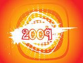 Nieuwjaar 2009 groet patroon — Stockvector