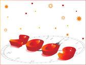 Patrón de felicitación de año nuevo 2009 — Vector de stock