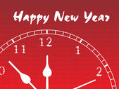 New year clock illustration — Vector de stock