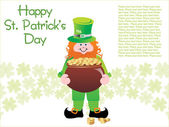 Background for patrick day — Stock Vector