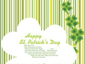 St. patrick's design cards 17 march — Stock Vector