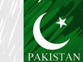 Dirty pakistan national flag — Stock Vector