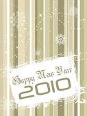 Illustrazione vettoriale per Capodanno 2010 — Vettoriale Stock