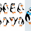 Vector cute penguin — Stock Vector