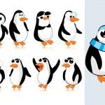 vector schattig pinguïn — Stockvector