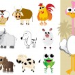 Collection of cute animal — Stock Vector