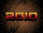 Vector illustration for new year 2010 — Stock Vector