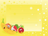 Banner with fresh fruits — Stock Vector