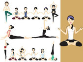 Illustration of yoga girl — Stock Vector
