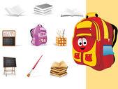Background with school object — Vetor de Stock