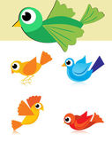Illustration of colorful birds — Stock Vector