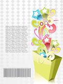 Overflow shopping bag, vector — Stock Vector