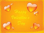 Frame of hearts theme — Stock Vector