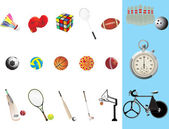 Illustration of sport requisites — Stock Vector
