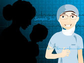 Illustration of medical background — Stock Vector