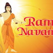 Holy background for ramnavami - Stock Vector