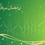 Green mosque background — Stock Vector