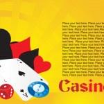 Poker equipment, wallpaper — Stock Vector
