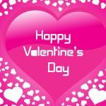 Pink valentines shining heart — Stock Vector