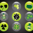 Stock Vector: St. patrick's day button elements
