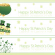 Three clover banner - Stockvectorbeeld