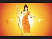 Ramnavami background with god — Stock Vector