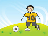 Player no 10 passing football — Stockvector