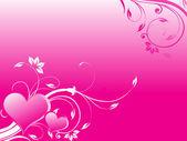 Dia dos namorados coração com florais — Vetorial Stock