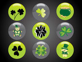 St. patrick's day button elements — Stock Vector