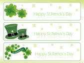 St. parick's day banner 17 march — Stock Vector