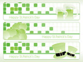 St. patrick's theme banner 17 march — Stock Vector