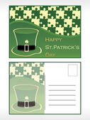 St.patrick's day postcard — Stock Vector