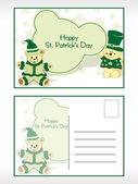 St. patrick's day postcards — Stock Vector