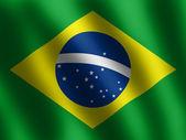 Patriotic shiny Brazilian Flag — Stock Photo