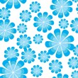 Background with blue flower — Stock Vector