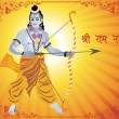 Lord rama image for ramnavami - Stock Vector